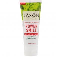 Отбеливающая зубная паста, перечная мята 85 г Jason Natural, PowerSmile
