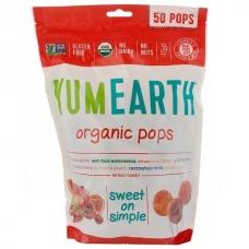 Леденцы с разными фруктовыми вкусами, Pops, YumEarth, органик, 50 шт, 349 г