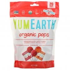 Леденцы с разными фруктовыми вкусами, Pops, YumEarth, органик, 20 шт, 119,1 г
