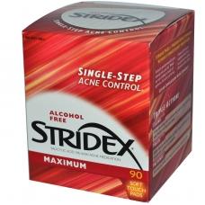 Салфетки анти-акнэ Stridex Maximum с салициловой кислотой 90шт