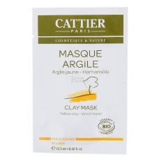 Маска с желтой глиной для сухой кожи Cattier Masque argile peaux seches 12,5мл