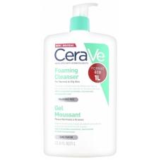 CeraVe - Очищающий гель для нормальной и жирной кожи лица и тела 1л