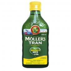 Mollers tran omega-3 норвежский рыбий жир для детей от 3 лет и взрослых 250 мл (цитрус)