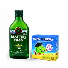 Mollers Tran Omega 3 + игра Рыбий жир  250 мл