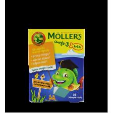 Mollers Omega-3 рыбки, вкус цитрус  36 шт