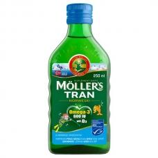 Mollers tran omega-3 норвежский рыбий жир от 3 лет и взрослых, фруктовый, 250 мл