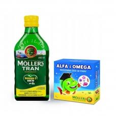 Mollers tran omega-3 + игра норвежский рыбий жир для детей от 3 лет и взрослых 250 мл (цитрус)