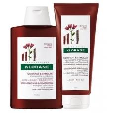 Набор шампунь с экстрактом хинина и витаминами В 400мл + Бальзам Klorane с хинином против выпадения волос  200мл