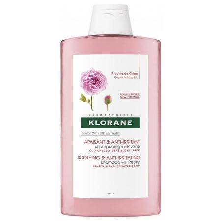 Шампунь с Пионом успокаивающий Klorane Soothing Shampoo with Peony Extract 400мл
