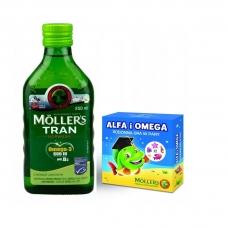 Mollers Tran Omega 3 + игра Рыбий жир ( яблоко ) 250 мл
