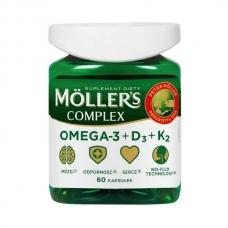 Mollers Complex omega-3 норвежский рыбий жир натуральный в капсулах + вит D 2000, вит К 50 мкг - 60 капсул