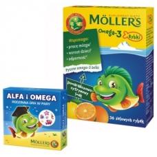 Mollers Omega-3 рыбки +игра , вкус цитрус  36 шт