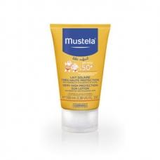 Солнцезащитный лосьон для лица и тела с рождения Mustela Bebe Enfant Very High Protection Sun Lotion SPF 50+ 100мл