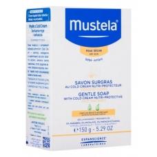 Питательное мыло Mustela с Cold Cream  для лица и тела младенцев и детей 150г
