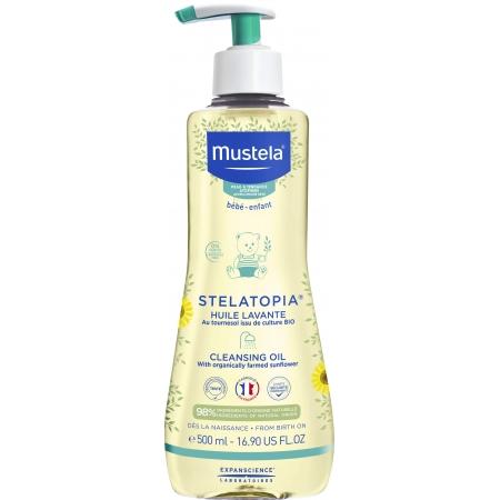 Mustela Stelatopia Cleansing Oil - Очищающее Масло для душа 500 мл
