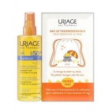 Солнцезащитный спрей для детей Uriage Bariesun Kids Spray Very High Protection SPF 50+ без ароматизаторов 200мл + пляжный рюбзак в подарок